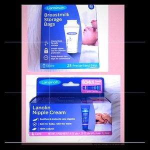 Breastfeeding Storage Bags & Lanolin Nipple Cream